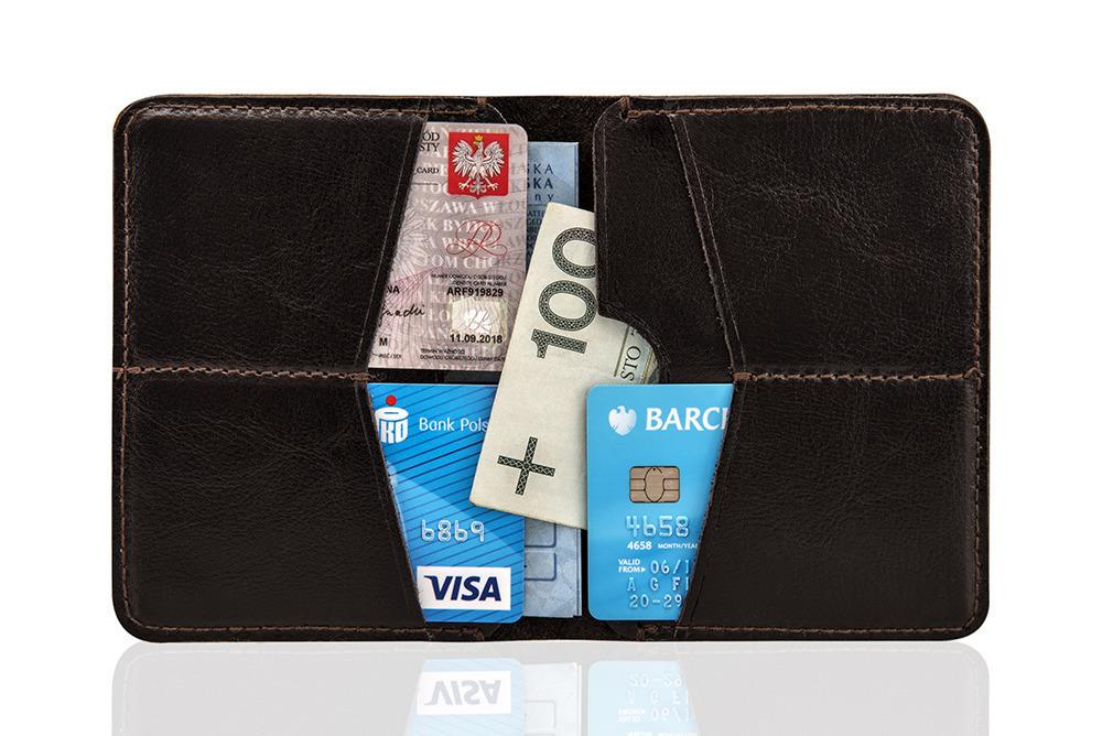 cienki skorzany portfel meski srodek