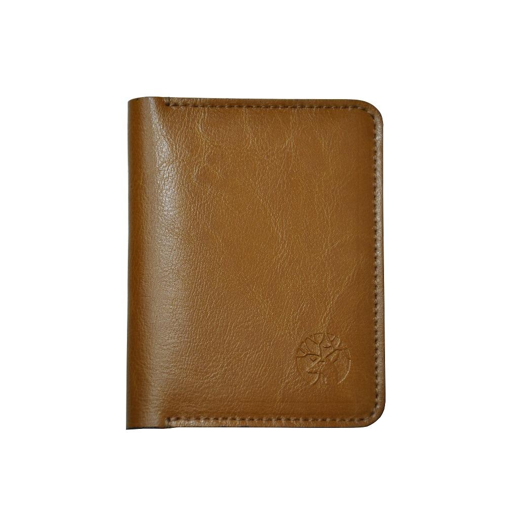skorzany portfel slim camel front maly