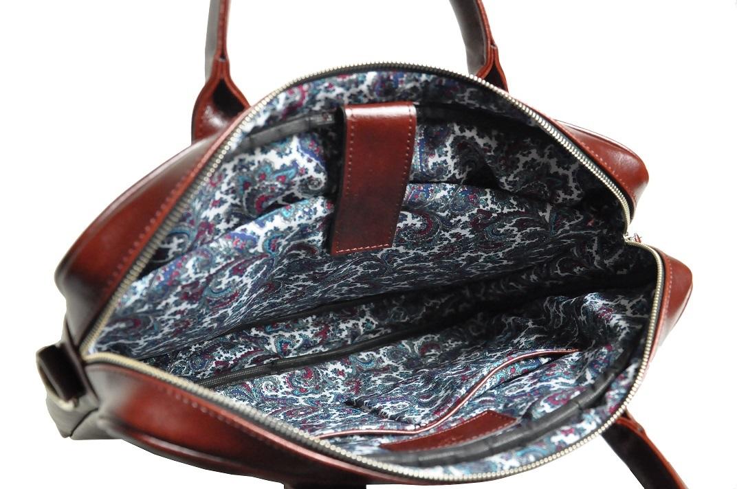 torba na laptopa ze skory mahoniowa srodek zig2 malyb