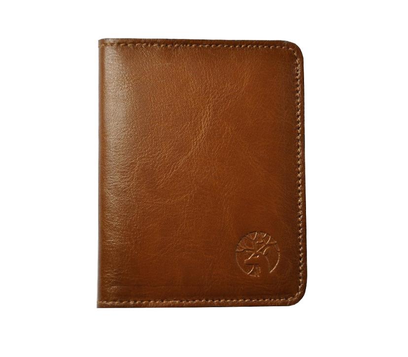 Skorzany portfel slim jasny braz zigner front malyb2