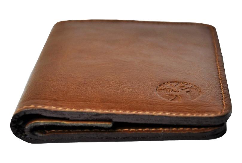 Skorzany portfel slim jasny braz zigner perspektywa b maly1