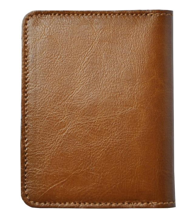 Skorzany portfel slim jasny braz zigner tyl maly