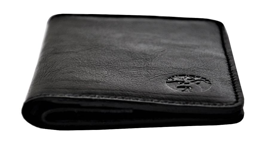 portfel skorzany superslim meski czarny zigner profil maly
