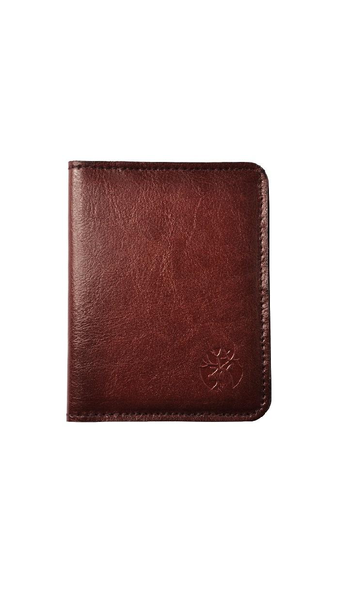 skórzany portfel meski slim kolor mahoń front 1paintgl90b
