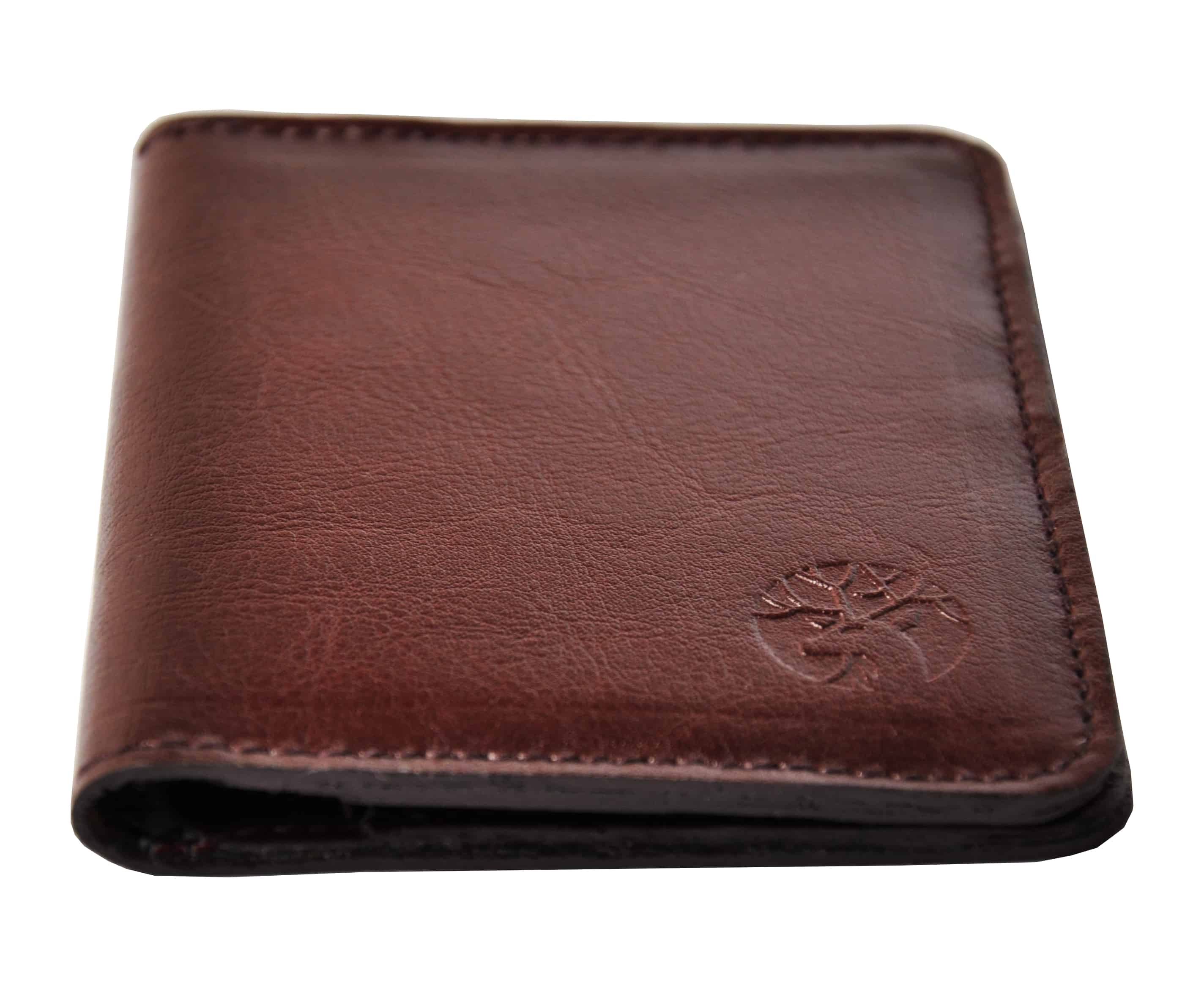 skorzany portfel męski kolor mahoń profil 1