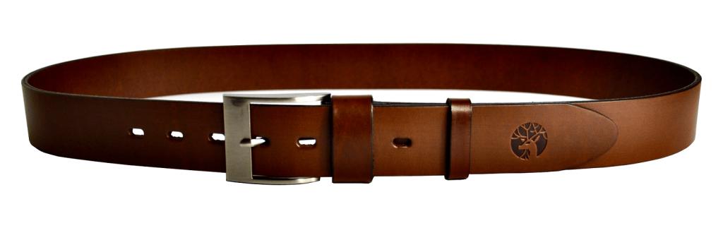 Skórzany pasek do spodni brązowy 4 cm przekrój b - paint2_1