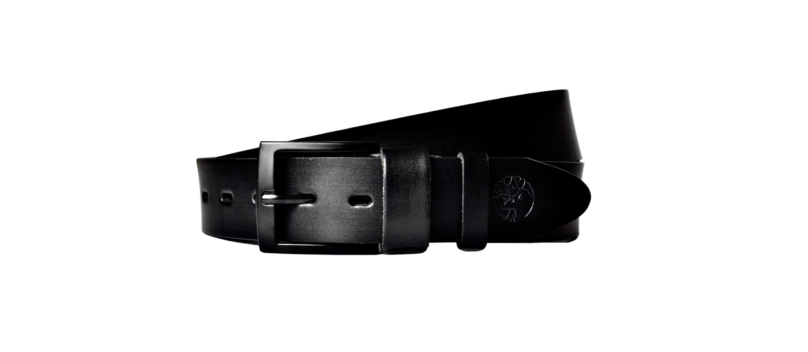 czarny pasek do spodni ze skóry z czarną klamrą główna